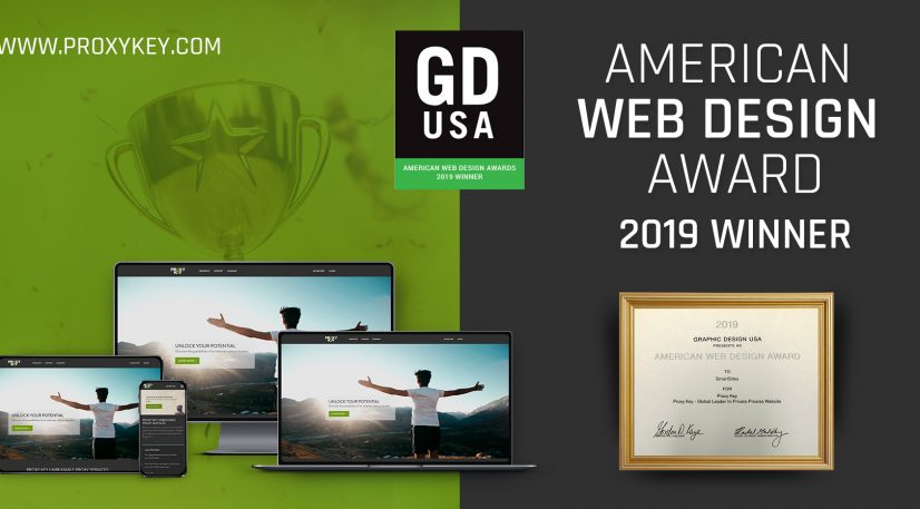 Proxy Key Website Has Won The Graphic Design USA (GDUSA) 2019 American Web Design Award
